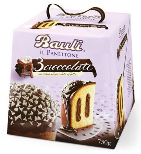 Il Panettone 3 Cioccolati 750g/Bauli
