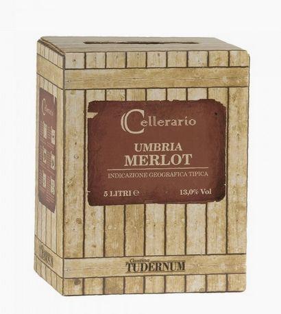 Merlot IGT Umbria 5l Bag Box 13%/Cantina Tudernum