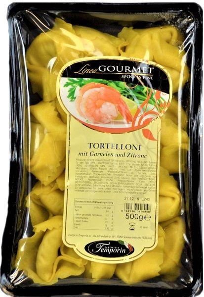 Tortelloni mit Garnelen und Zitrone 500 g/ Temporin