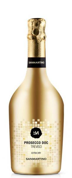 Prosecco DOC Treviso extra dry goldene Flasche 0,75l 11% /San Martino