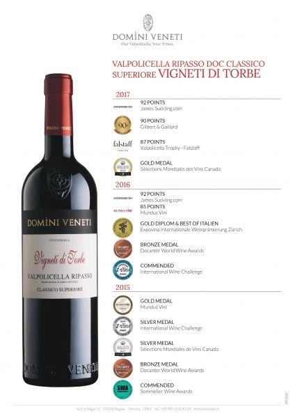 Valpolicella Ripasso DOC Classico Superiore Vigneti di Torbe 0,75l 13,5% - 2018 / Domeni Veneti