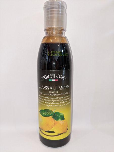 Glassa al Limone a Base di Aceto Balsamico di Modena IGP 250ml / Antichi Colli