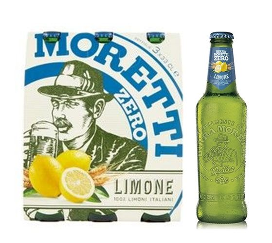 Birra Moretti Zero Limone 0,0 % vol. 3 x 0,33 Liter
