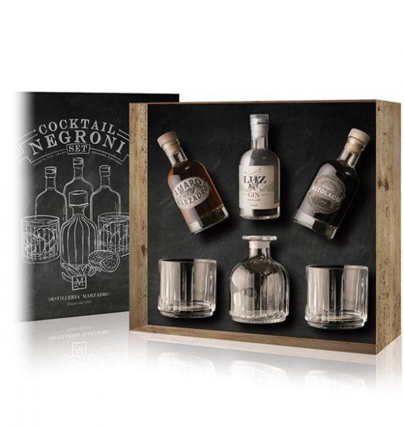 Cocktail Negroni Geschenkset / Marzadro