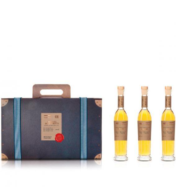 Grappa Kofferset 3 Flaschen 41% Marzadro