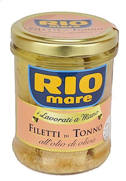 Thunfischfilets in Olivenoel 180g Glas / Rio Mare