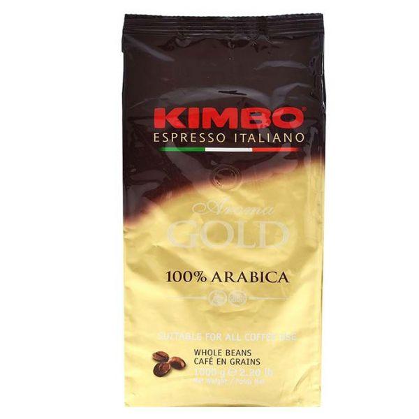 Caffe Aroma Gold 100% Arabica ganze Bohnen 1Kg/Kimbo