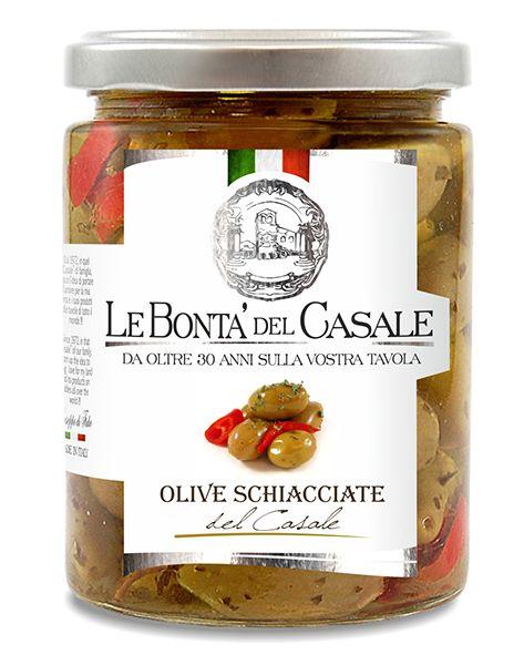 Olive schiacciate del Casale 314ml/Le Bonta Del Casale