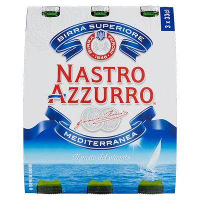 Birra Bier Mediterranea 3 x 0,33 Liter / Nastro Azzurro