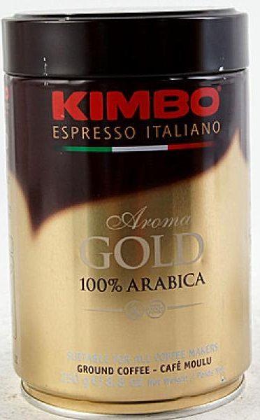 Caffe Espresso Gold 100 % Arabica Dose gemahlen 250g/Kimbo
