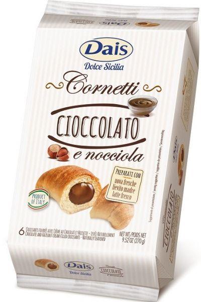 Cornetti Schokoladencreme 6er Pack x 45g, 270 g/Dais