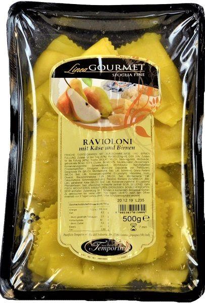 Ravioloni formaggio e pere, Käse und Birnen 500 g / Temporin
