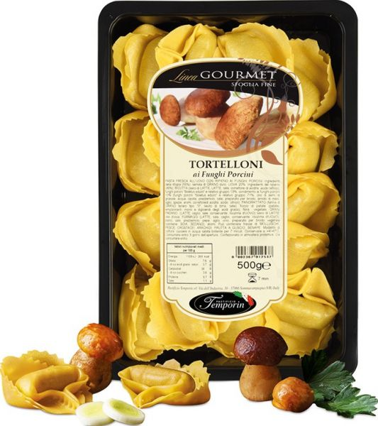 Tortelloni funghi porcini, mit Steinpilzen 500 g / Temporin
