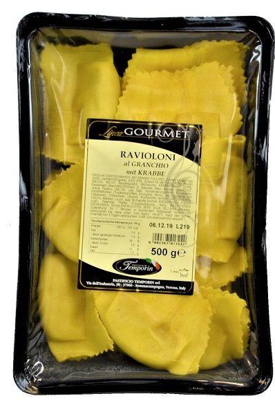 Ravioloni al Granchio, mit Krabbe / Temporin