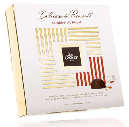 Gefüllte Dunkelschokoladenpralinen Cuneese Rhum 250g / Dulcioliva
