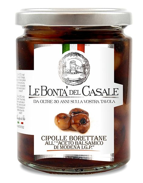 Cipolle Borettane all'aceto balsamico 314ml IGP/Le Bonta Del Casale
