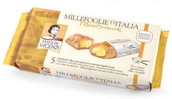 Millefoglie Mini Snack Vanillecreme 5 Stk 125g/Vicenzi