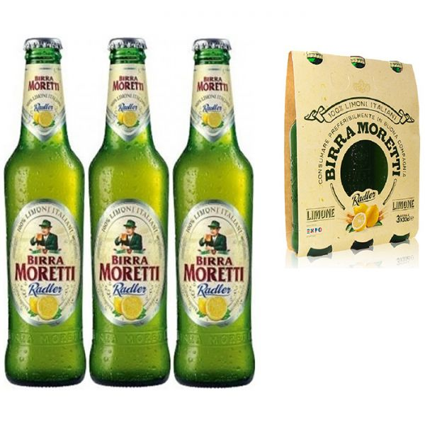 Birra Moretti Radler 3 Fl.x 0,33l/Moretti | Bier | Getränke mit ...