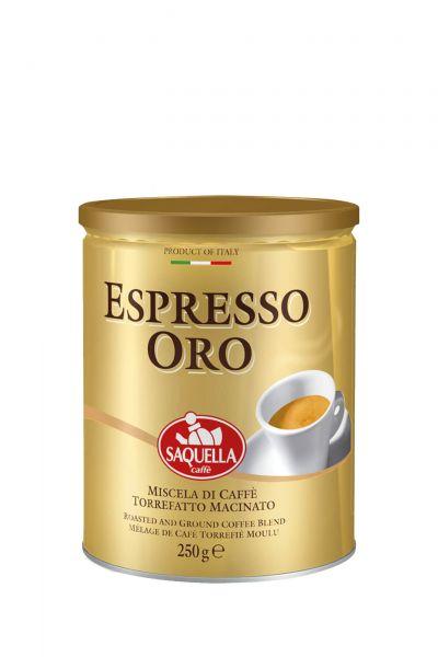 Caffe Espresso ORO 250 g gemahlen/ Saquella