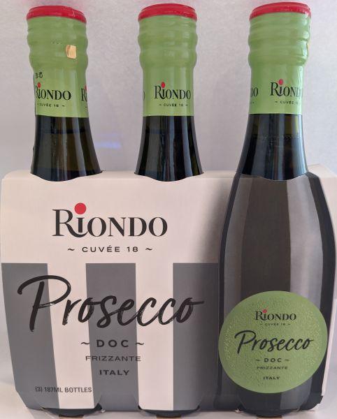 Prosecco DOC Frizzante 3x187ml 10,5% / Riondo