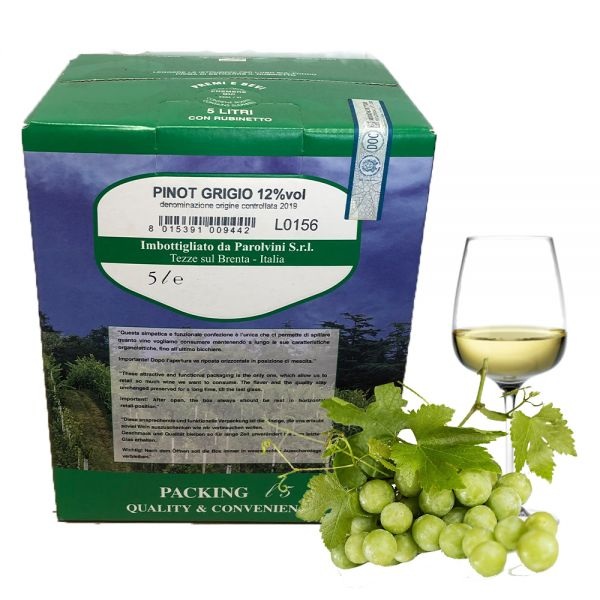 Pinot Grigio Garganega IGT 5l Bag Box 12%/Parolvini