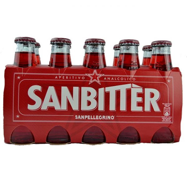 San Bitter rosso 10 x 10 cl/San Pellegrino   Aperitif alkoholfrei ...