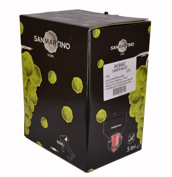 Vino bianco 5 Liter S.Martino Bag in Box /San Martino