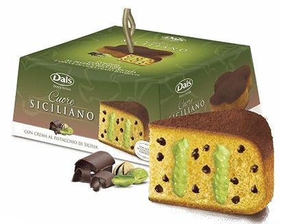 Colomba crema al Pistacchio con gocce di Cioccolato 750g/Dais
