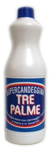 """Candeggina """" Tre Palme """" 1 Liter"""