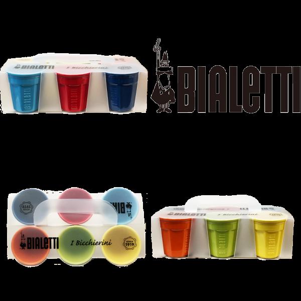 Espressotassen 6 Stück verschiedene Farben/Bialetti